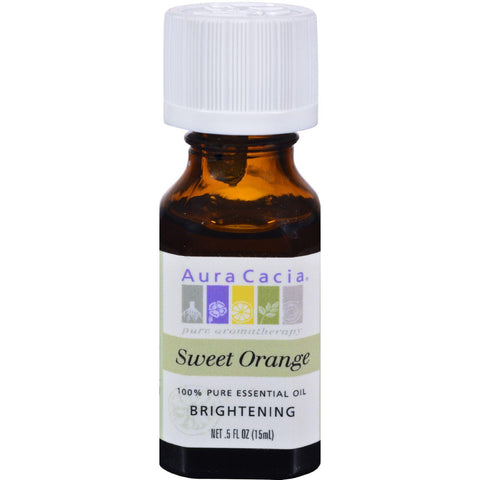 Aura Cacia 100% Pure Essential Oil Sweet Orange - 0.5 fl oz-Aura Cacia-pantryperks