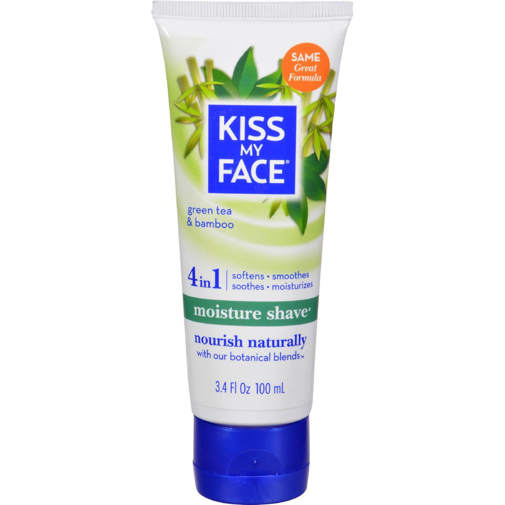Kiss My Face Moisture Shave Green Tea And Bamboo - 3.4 Fl Oz-Kiss My Face-pantryperks