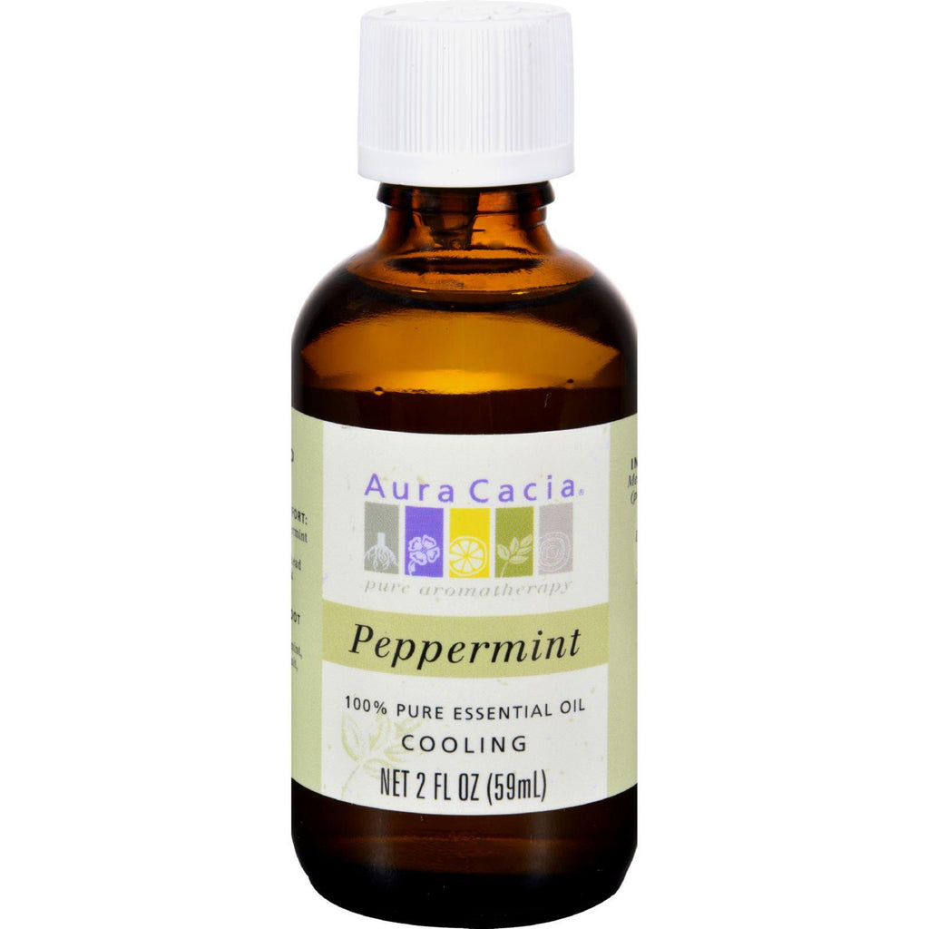 Aura Cacia Essential Oil - Cooling Peppermint - 2 fluid ounce-Aura Cacia-pantryperks