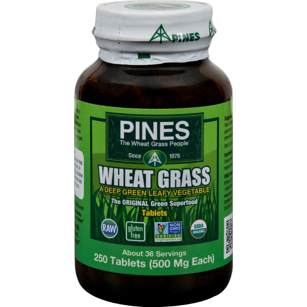 Pines International Wheat Grass - 500 Mg - 250 Tablets-Pines International-pantryperks