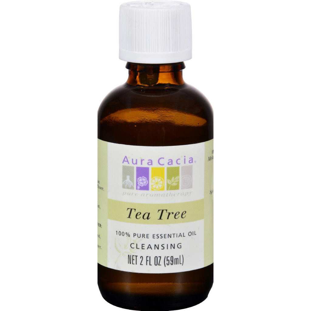 Aura Cacia Essential Oil - Cleansing Tea Tree - 2 fluid ounce-Aura Cacia-pantryperks