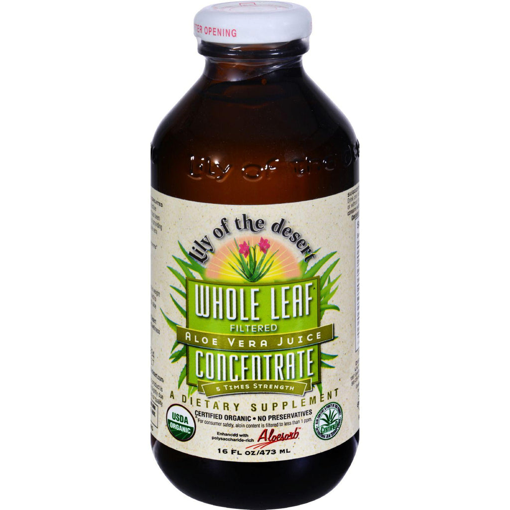 Lily Of The Desert Aloe Vera Juice Whole Leaf Concentrate - 16 Fl Oz-Lily Of The Desert-pantryperks
