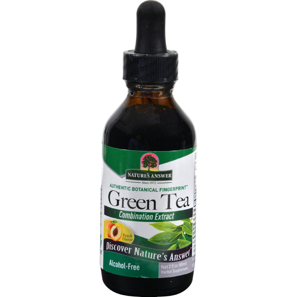 Nature's Answer Super Green Tea Alcohol Free Peach - 2 Fl Oz-Nature's Answer-pantryperks