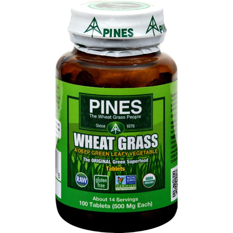 Pines International Organic Wheat Grass - 500 Mg - 100 Tablets-Pines International-pantryperks