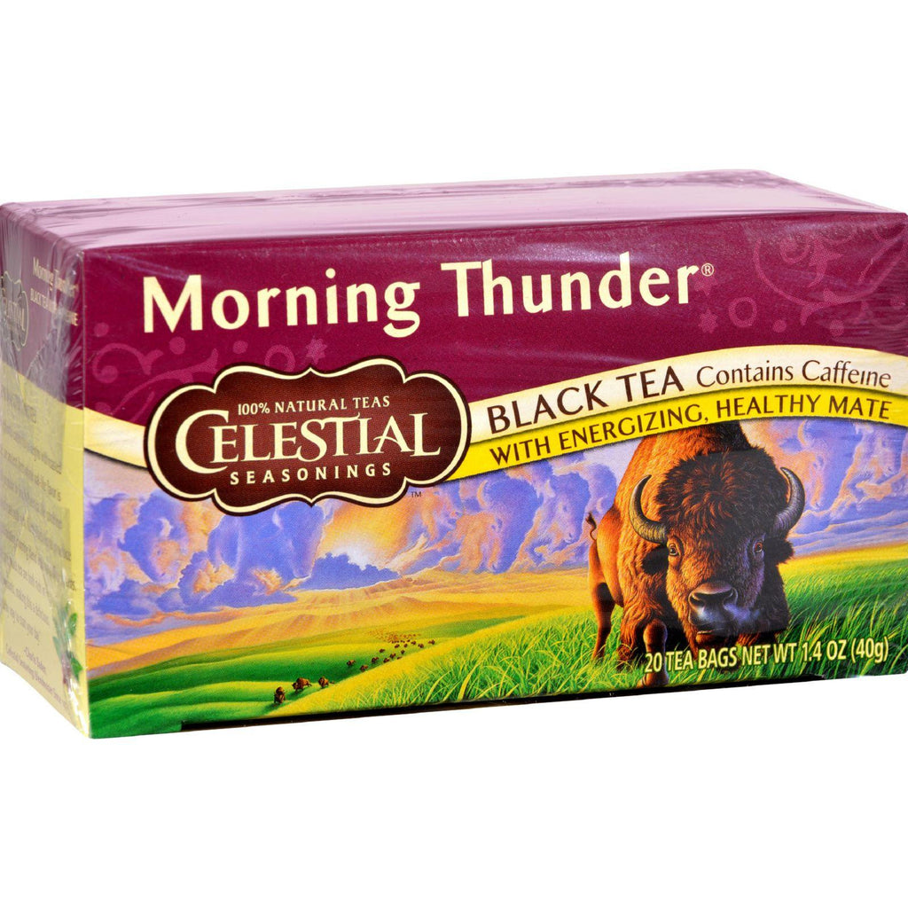 Celestial Seasonings Black Tea - Morning Thunder - 20 Bags-Celestial Seasonings-pantryperks