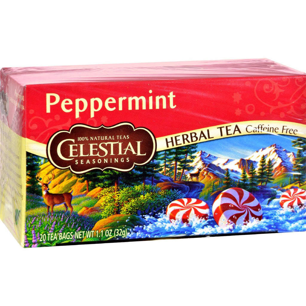 Celestial Seasonings Herbal Tea - Peppermint - Caffeine Free - 20 Bags-Celestial Seasonings-pantryperks