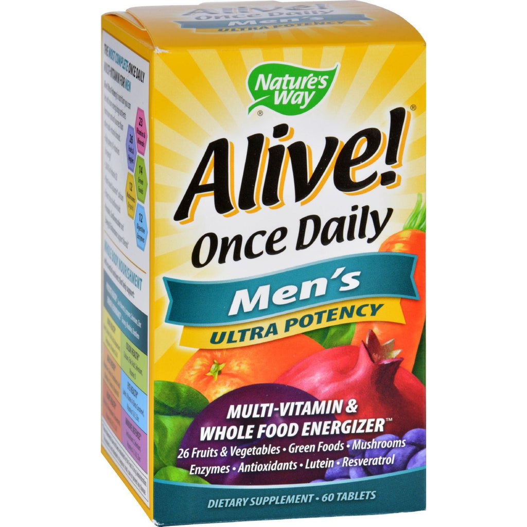 Nature's Way Alive! Once Daily Men's Multivitamin - Ultra Potency - Food-Based Blends - 291mg per serving - 60 Tablets-Nature's Way-pantryperks
