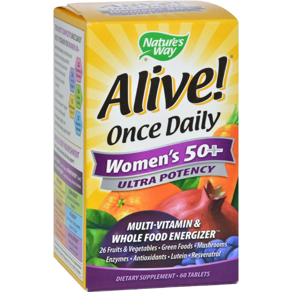 Nature's Way Alive! Once Daily Women's 50+ Ultra Potency Multi-Vitamin - 60 Tablets-Nature's Way-pantryperks