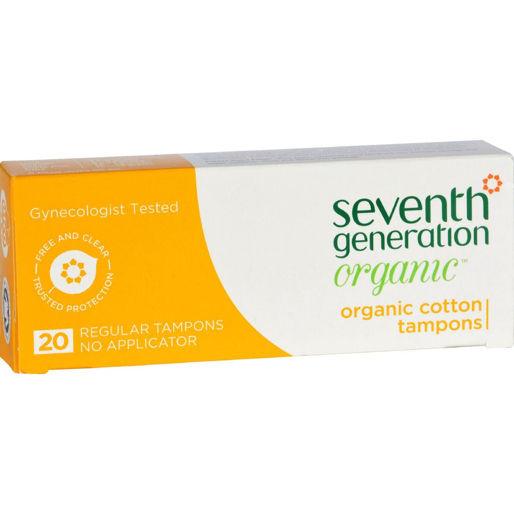 Seventh Generation Chlorine Free Organic Cotton Tampons Regular - 20 Tampons-Seventh Generation-pantryperks