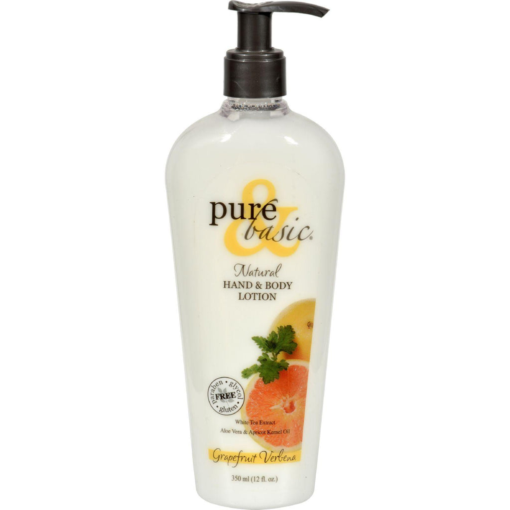 Pure And Basic Natural Bath And Body Lotion Grapefruit Verbena - 12 Fl Oz-Pure And Basic-pantryperks