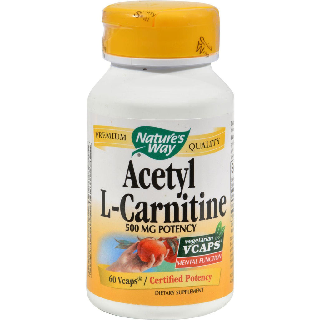 Nature's Way Acetyl L-carnitine - 500 Mg - 60 Vegetarian Capsules-Nature's Way-pantryperks