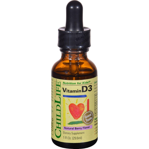 Childlife Vitamin D3 Natural Berry - 1 fl oz-Child Life-pantryperks