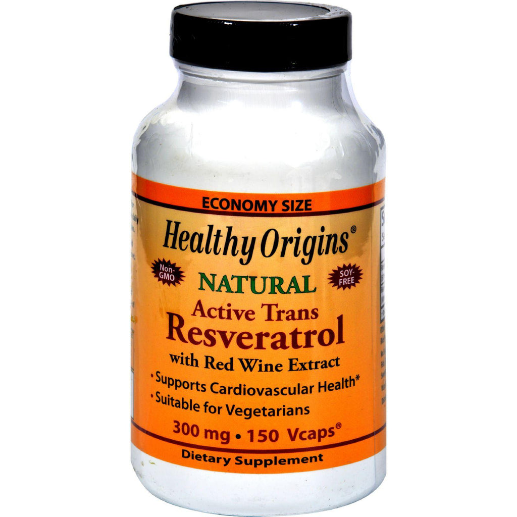 Healthy Origins Natural Resveratrol - 300 Mg - 150 Vegetarian Capsules-Healthy Origins-pantryperks