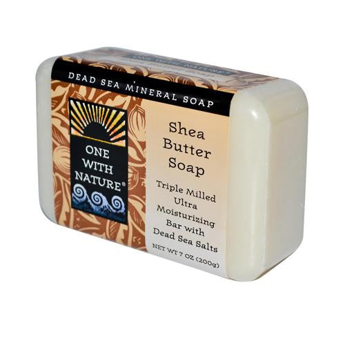 One With Nature Dead Sea Mineral Soap Shea Butter - 7 oz-One With Nature-pantryperks
