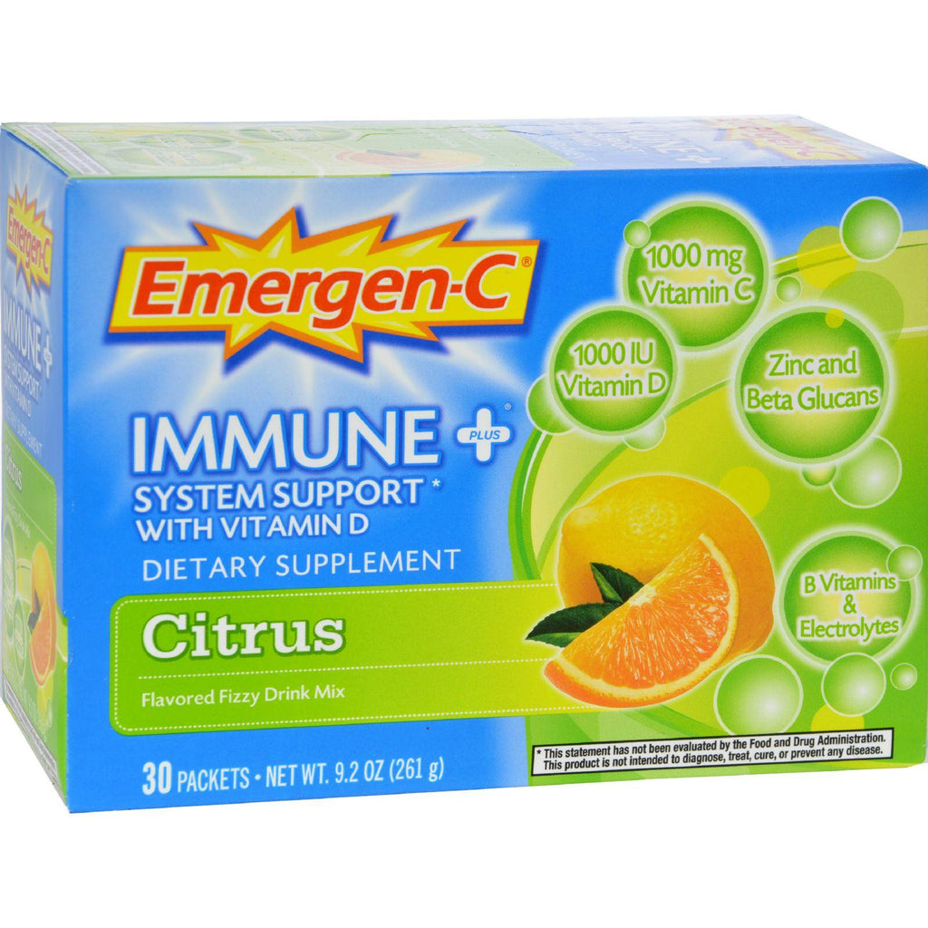 Emergen-C Immune Pluså¨ System Support with Vitamin D Citrus - 30 Packets-Alacer-pantryperks