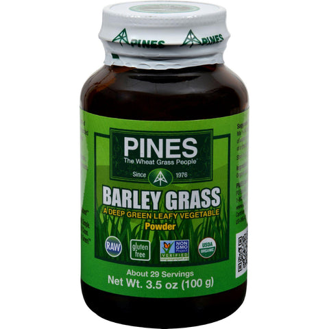 Pines International 100% Organic Barley Grass Powder - 3.5 Oz-Pines International-pantryperks