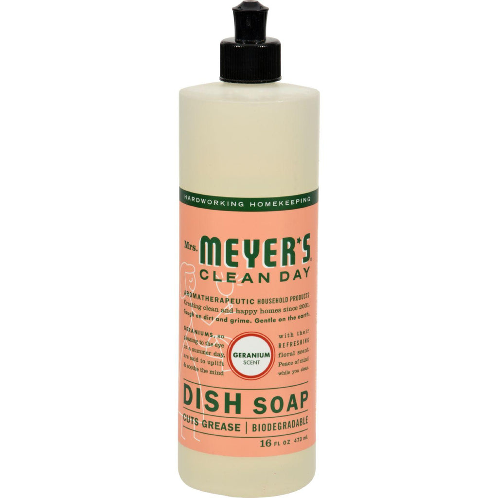 Mrs. Meyer's Liquid Dish Soap - Geranium - Case Of 6 - 16 Oz-Mrs. Meyer's-pantryperks