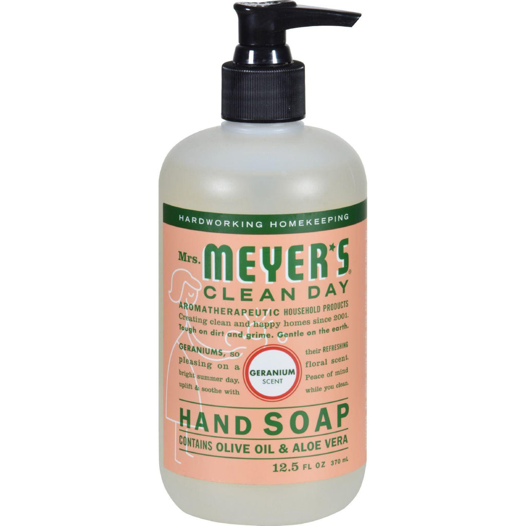 Mrs. Meyer's Liquid Hand Soap - Geranium - Case Of 6 - 12.5 Oz-Mrs. Meyer's-pantryperks