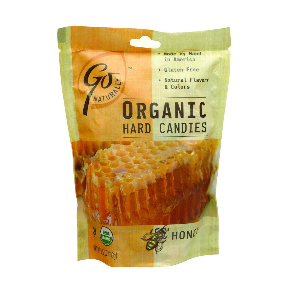 Go Organic Hard Candy - Honey - 3.5 Oz - Case Of 6-Go Organic-pantryperks