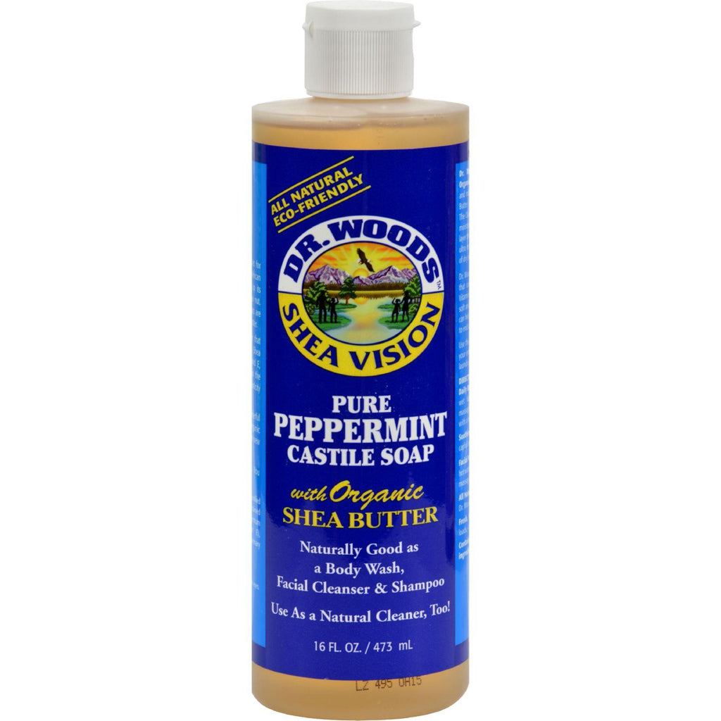 Dr. Woods Shea Vision Pure Castile Soap Peppermint With Organic Shea Butter - 16 Fl Oz-Dr. Woods-pantryperks