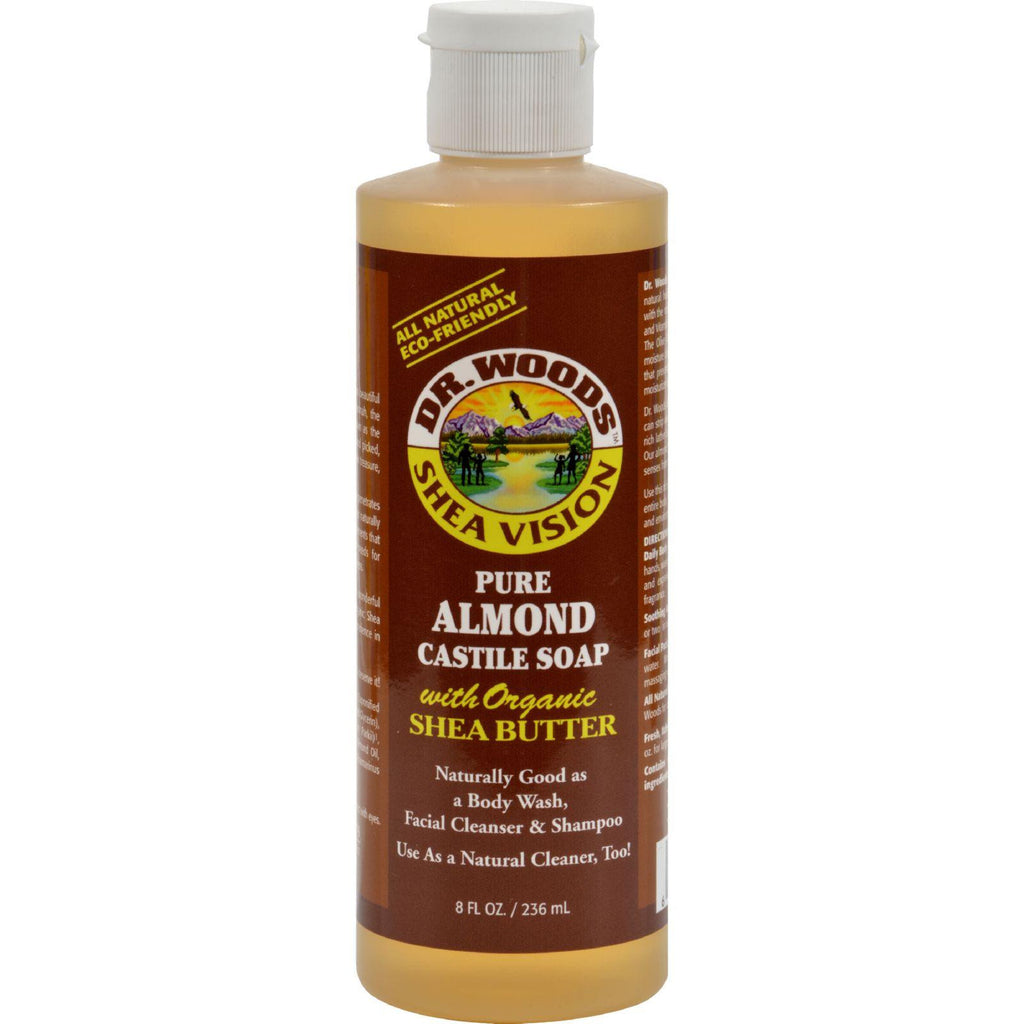 Dr. Woods Shea Vision Pure Castile Soap Almond With Organic Shea Butter - 8 Fl Oz-Dr. Woods-pantryperks