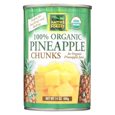 Native Forest 100% Organic Pineapple Chunks - 14 oz-Native Forest-pantryperks