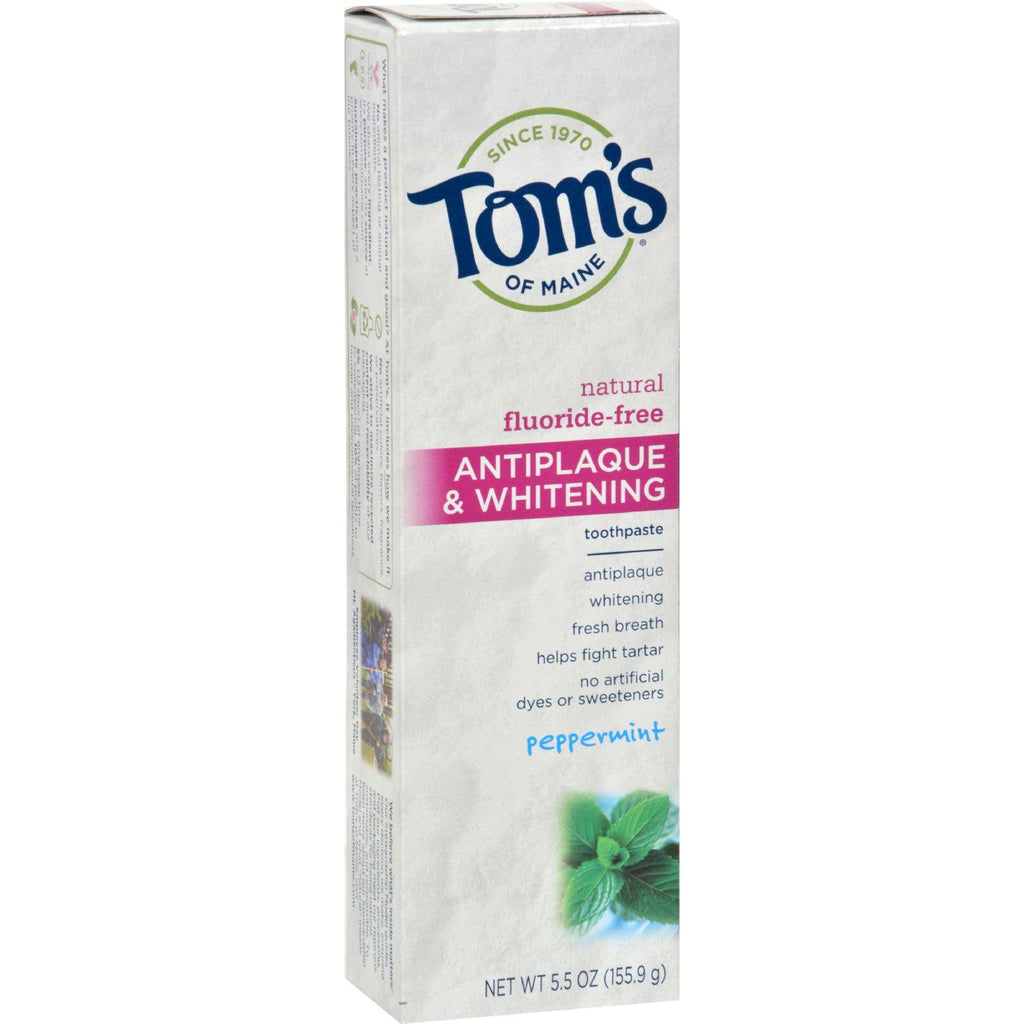 Tom's of Maine Antiplaque and Whitening Natural Toothpaste Peppermint - 5.5 oz-Tom's Of Maine-pantryperks