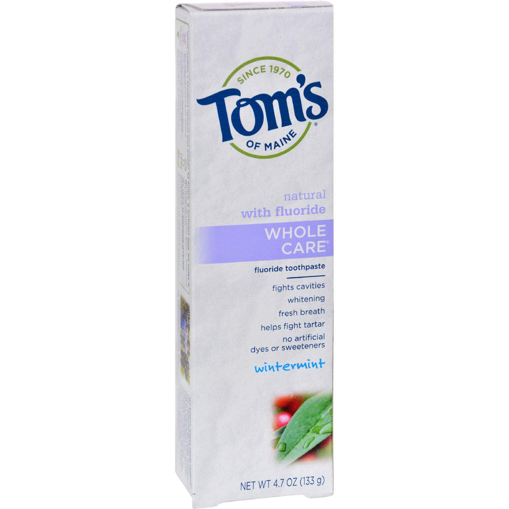 Tom's of Maine Whole Care Natural Toothpaste Wintermint - 4.7 oz-Tom's Of Maine-pantryperks