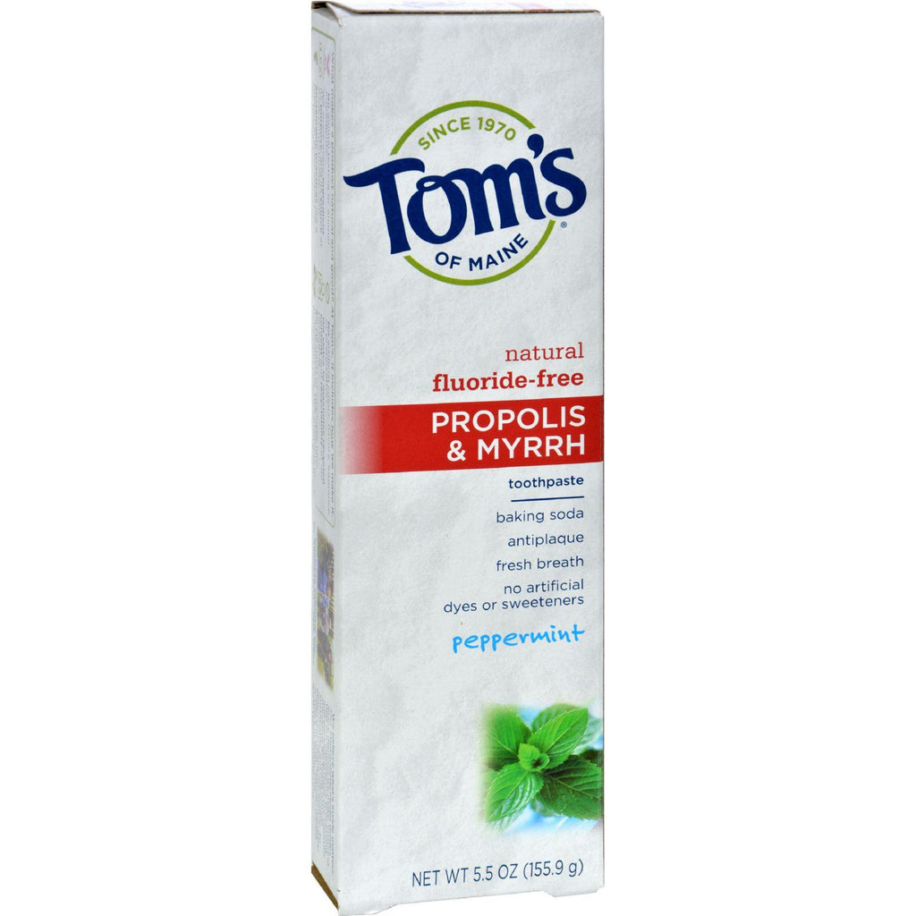 Tom's of Maine Propolis and Myrrh Natural Toothpaste Peppermint - 5.5 oz-Tom's Of Maine-pantryperks