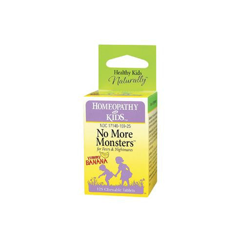 Herbs For Kids No More Monsters Yummy Banana - 125 Chewables-Herbs For Kids-pantryperks