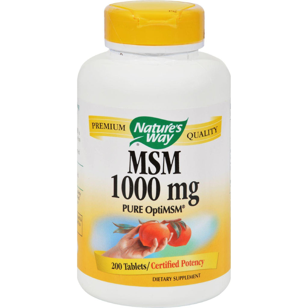 Nature's Way Msm - 1000 Mg - 200 Tablets-Nature's Way-pantryperks