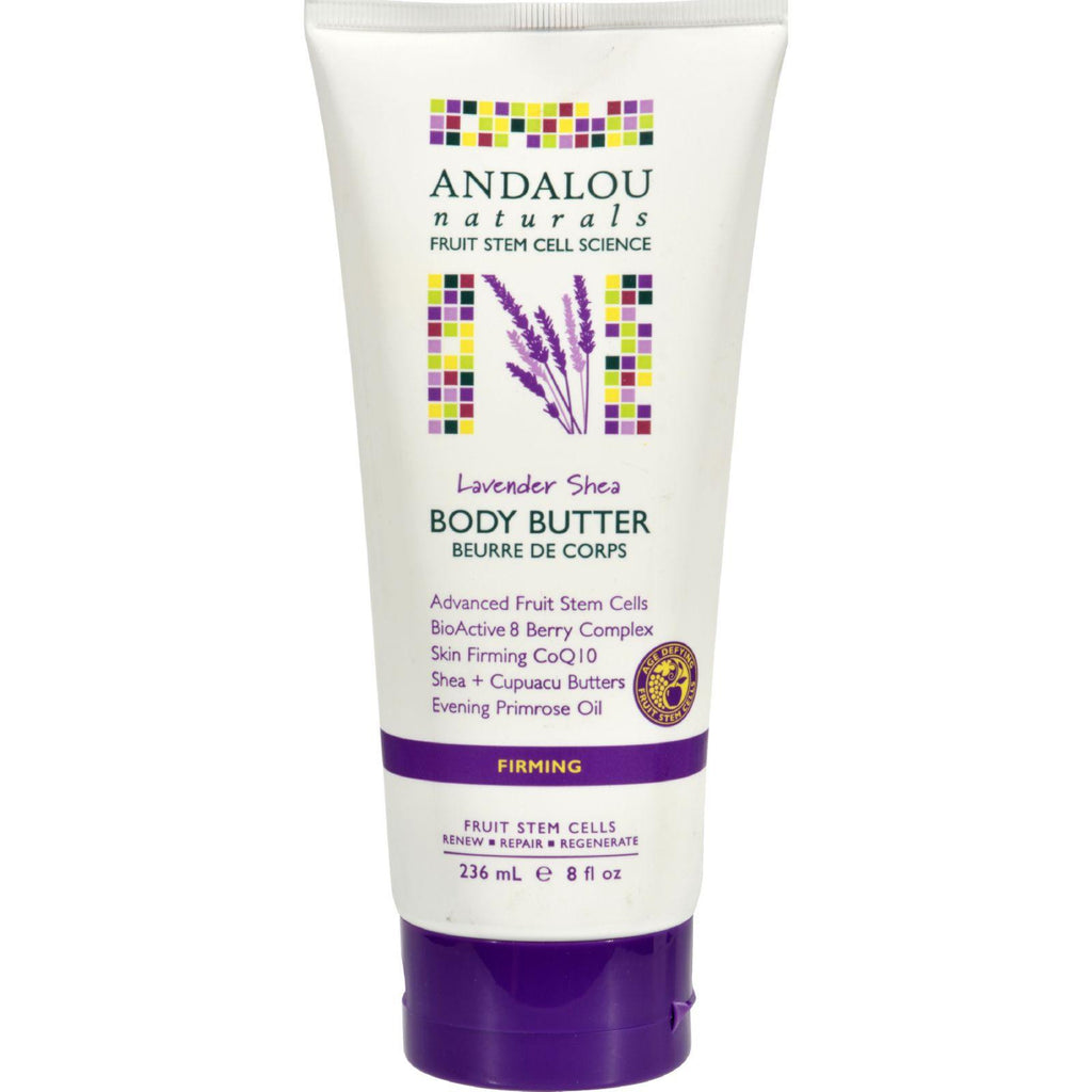 Andalou Naturals Lavender Shea Firming Body Butter - 8 Ounce-Andalou Naturals-pantryperks