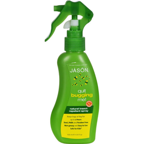 Jason Quit Bugging Me Natural Insect Spray - 4.5 Fl Oz-Jason Natural Products-pantryperks