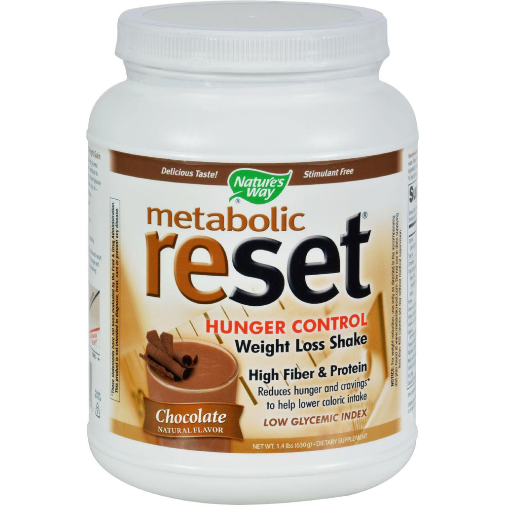 Nature's Way Metabolic Reset Shake Mix Chocolate - 1.4 Lbs-Nature's Way-pantryperks