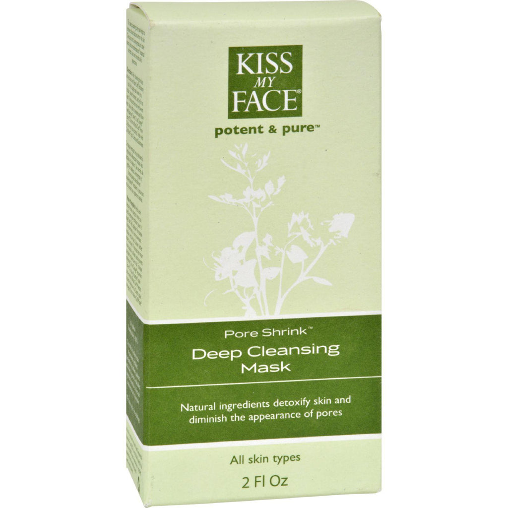 Kiss My Face Deep Cleansing Mask Pore Shrink - 2 Fl Oz-Kiss My Face-pantryperks