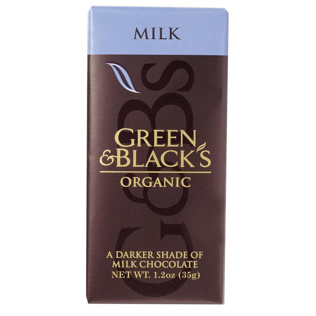 Green And Black's Organic Chocolate Bars - Milk Chocolate - 34 Percent Cacao - Impulse Bars - 1.2 Oz - Case Of 20-Green And Black's-pantryperks