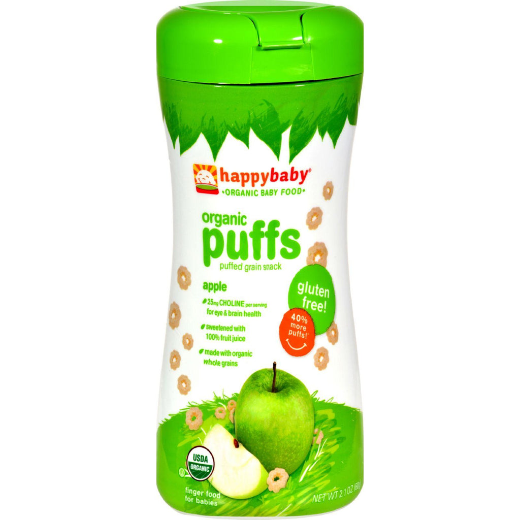 Happy Baby Superfood Puffs Organic Baby Food Apple & Broccoli - 2.1 oz-Happy Baby-pantryperks