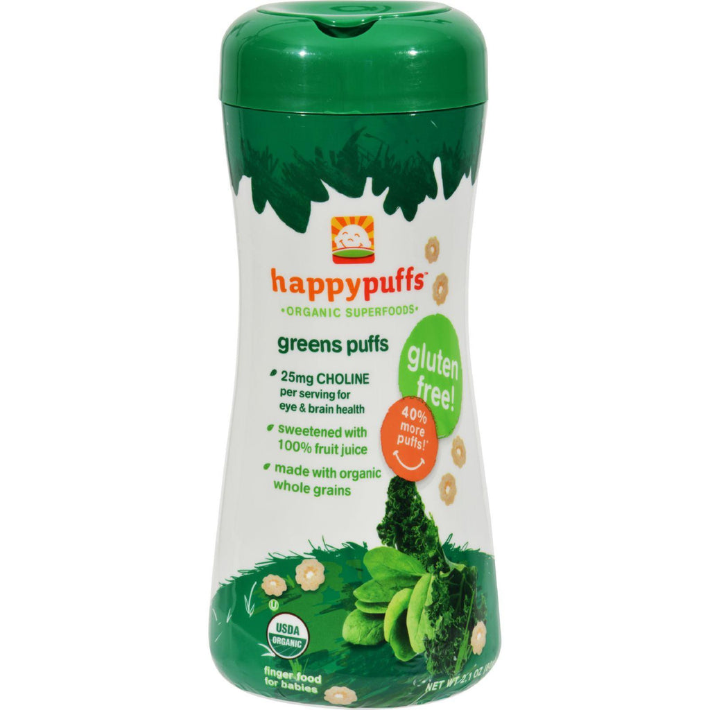 Happy Baby Superfood Puffs Organic Baby Food Kale & Spinach - 2.1 oz-Happy Baby-pantryperks