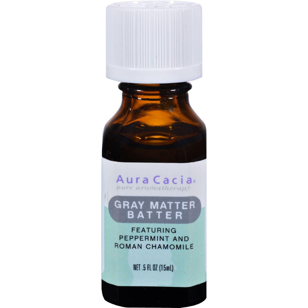 Aura Cacia Pure Aromatherapy Oil Gray Matter Batter Peppermint & Roman Chamomile - 0.5 fl oz-Aura Cacia-pantryperks