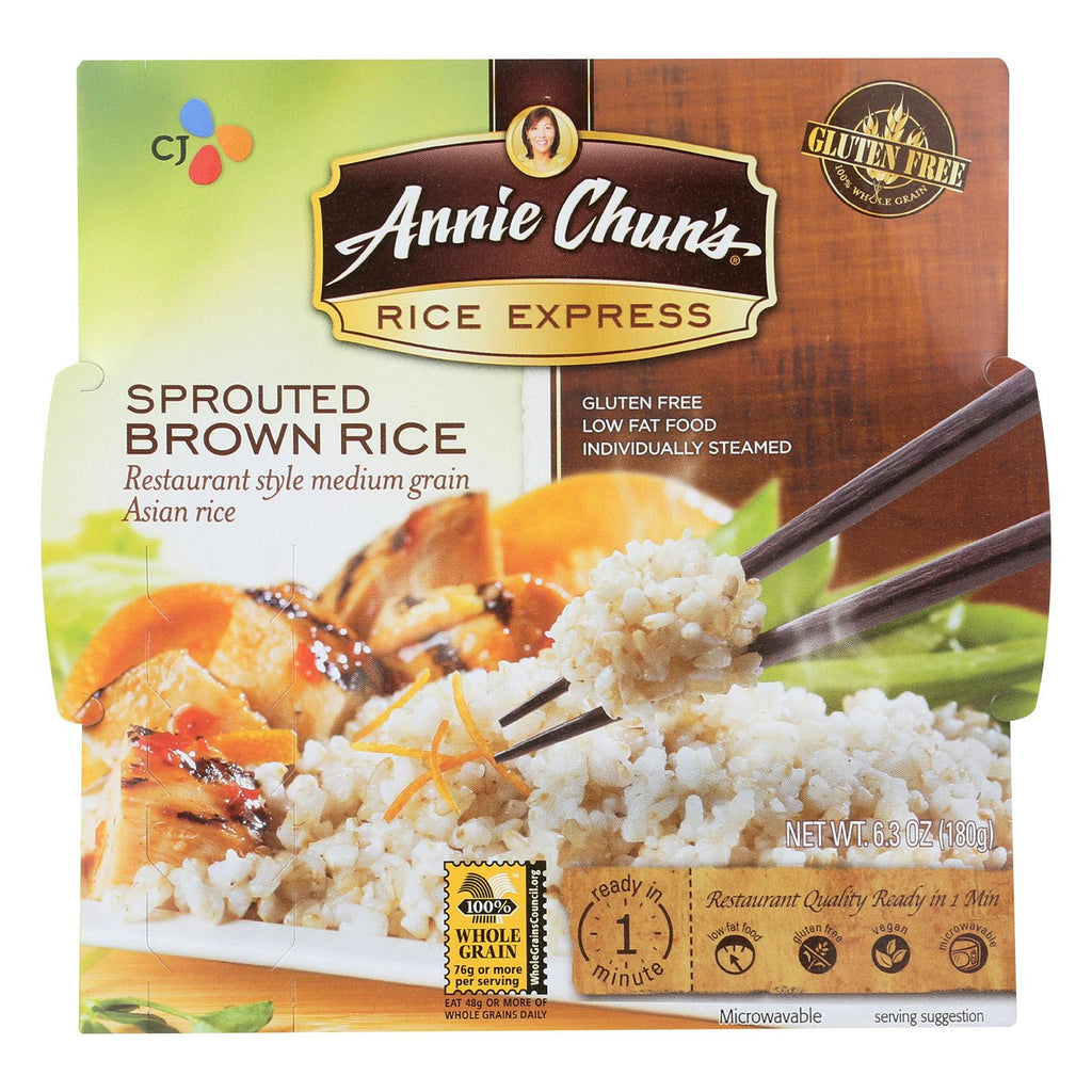 Annie Chun's Rice Express Sprouted Brown Rice - 6.3 oz-Annie Chun's-pantryperks