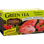 Celestial Seasonings Green Tea Raspberry Gardens - 20 Tea Bags - Case Of 6-Celestial Seasonings-pantryperks