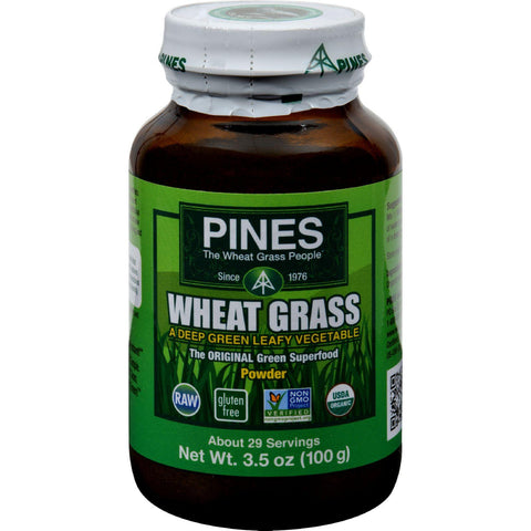 Pines International Wheat Grass Powder - 3.5 Oz-Pines International-pantryperks