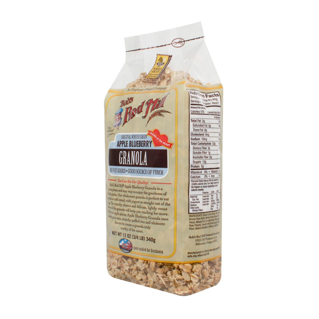 Bob's Red Mill Apple Blueberry Granola - 12 Oz - Case Of 4-Bob's Red Mill-pantryperks