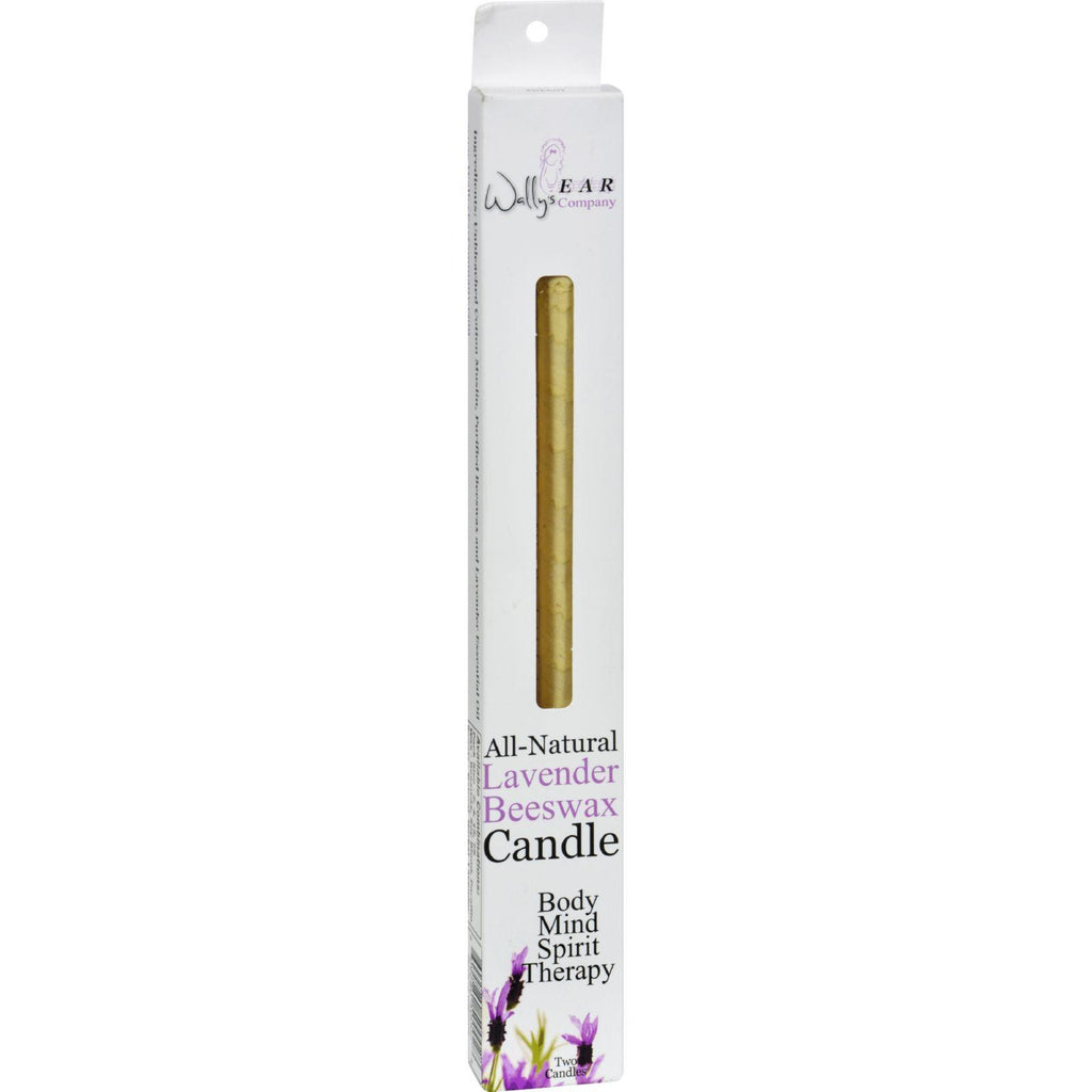 Wally's Natural Products Beeswax Candles - Lavender - 2 Pack-Wally's Natural Products-pantryperks