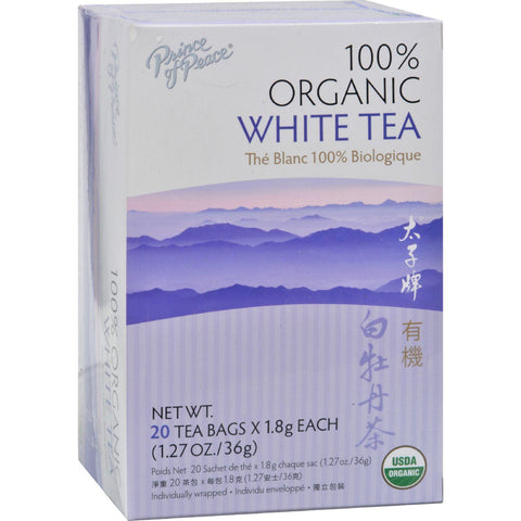 Prince of Peace Organic White Tea - 20 Tea Bags-Prince Of Peace-pantryperks