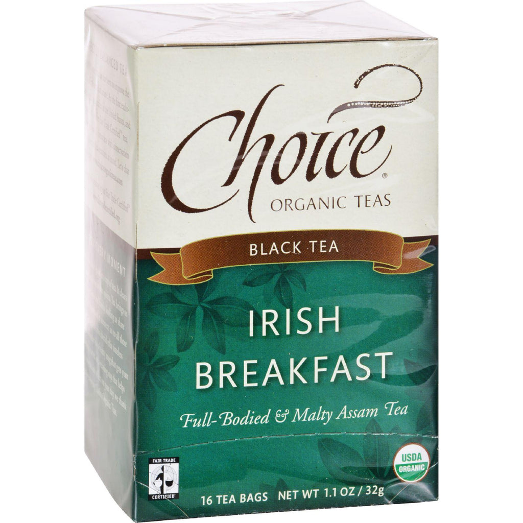 Choice Organic Teas Irish Breakfast Tea - 16 Tea Bags - Case Of 6-Choice Organic Teas-pantryperks