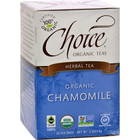 Choice Organic Teas Herbal Tea Chamomile - 16 Tea Bags-Choice Organic Teas-pantryperks