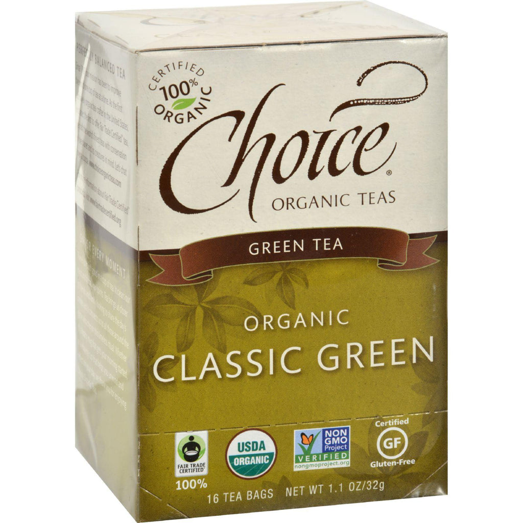 Choice Organic Teas Green Tea Classic - 16 Tea Bags-Choice Organic Teas-pantryperks