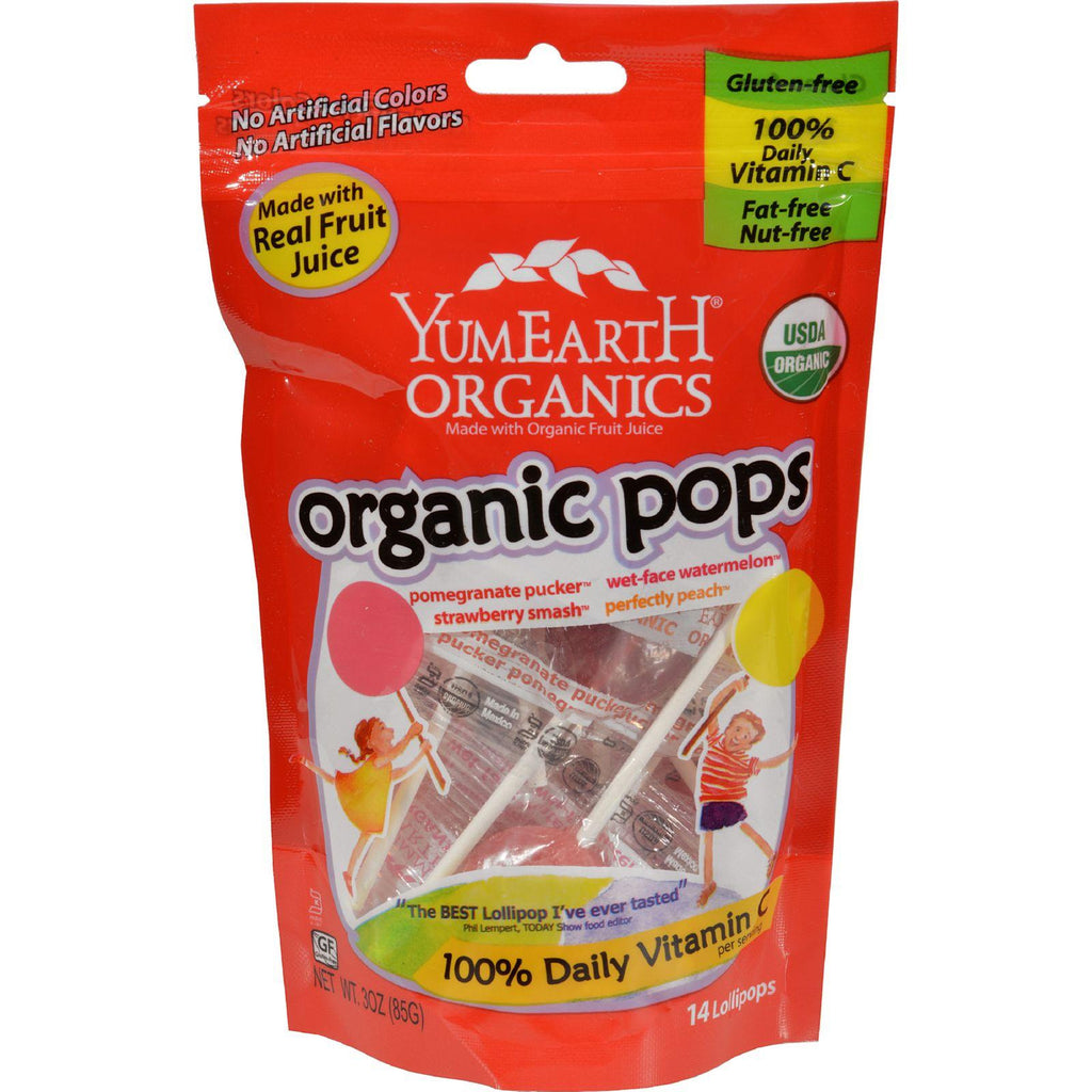 Yum Earth Organic Pops Assorted - 3 oz-Yummy Earth-pantryperks