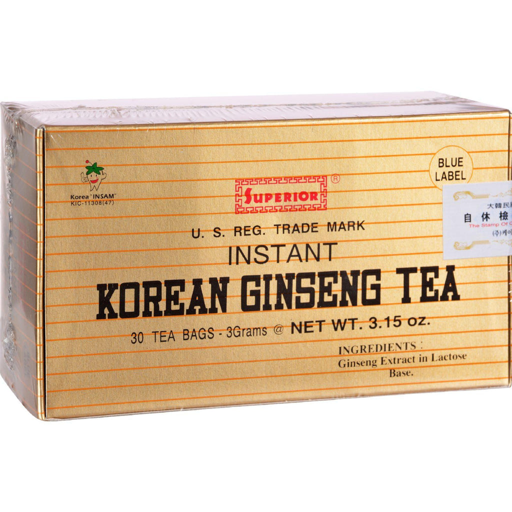 Superior Instant Korean Ginseng Tea - 30 Tea Bags-Superior Trading Co.-pantryperks